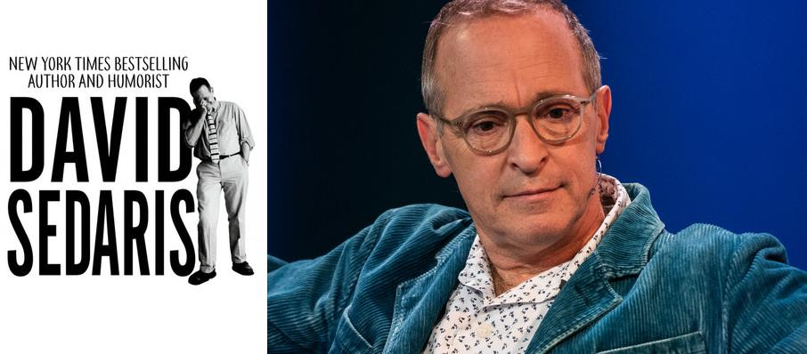 David Sedaris at San Jose Center for Performing Arts