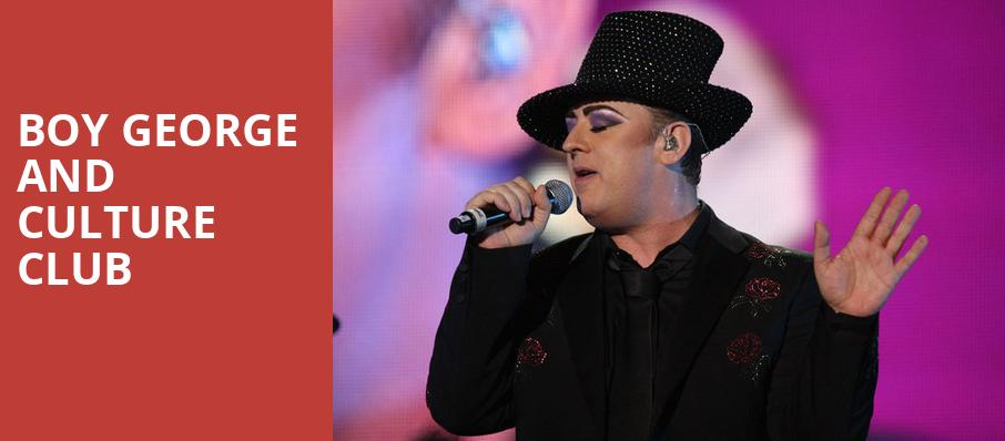 Boy George and Culture Club, Mountain Winery, San Jose